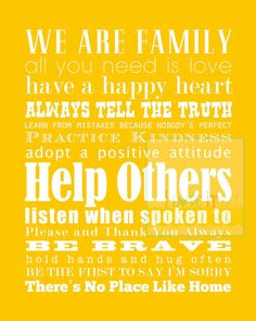 16x20 Kids Rules Word Art Poster . Family Motto . by iloveitall, $21.00