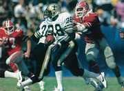 Former 1st round draft pick George Rodgers from South Carolina played with the Saints from 1981 to 1984 and was the Saints leading career rusher until Deuce McAllister broke his record in 2006. He's still #2 on the All-Time New Orleans Saints Rushing list with 4267 yards.