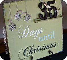 Days until Christmas decoration