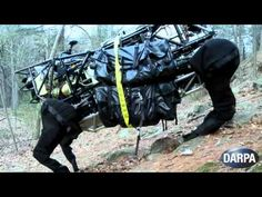 DARPA has released the first video of its robot Legged Squad Support System (LS3) walking untethered and in the wild. Watch in awe as a robotic quadruped scales a rocky, forested hill while carrying a heavy load on its back. / This is the next step of the Boston Dynamics 'BigDog'