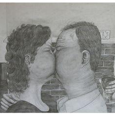 Paul de Reus, Kus  Galerie Ton de Boer....graphite drawing