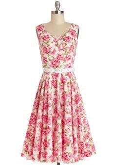 Bernie Dexter Pretty as a Rose Dress | Mod Retro Vintage Dresses | ModCloth.com  Pink roses, so me!!
