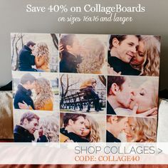 CollageBoards! Print multiple pictures on wood. Choose from several templates.