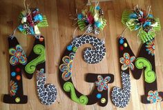cute painted letters