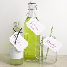 """Cheers to Us """"Best Day Ever"""" Tags for wedding favors, drinks, and more. #DavidsBridal #Wedding #WeddingFavors"""
