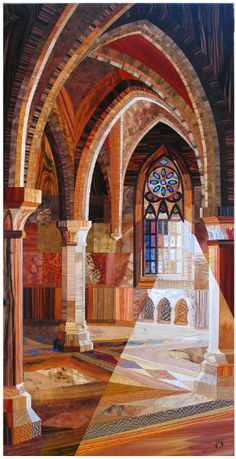 Thousands of Wood Slivers Form Amazing Cathedral Artworks / My Modern Metropolis