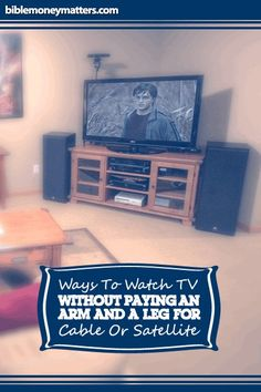 Ways To Watch TV Without Paying An Arm And A Leg For Cable Or Satellite  http://www.biblemoneymatters.com/ways-to-watch-tv-without-paying-an-arm-and-a-leg-for-cable-or-satellite/