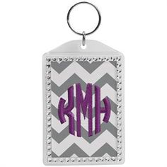 Add some bling to your embroidery with this blank acrylic rhinestone keychain. Only $1.00 each.
