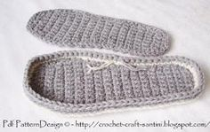 Any Size Crochet Sole. These I mostly use for indoor crochet-shoes. They can however be treated for street-wear! Follow the link.