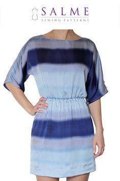 PDF+Sewing+pattern++Kimono+sleeve+dress+by+Salmepatterns+on+Etsy,+$7.00
