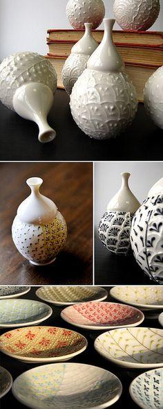 Pottery...sprig idea