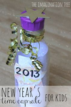 New Year's Time Capsule for kids! A fun family tradition and a great way to make a memory keepsake.