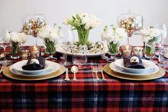 christmas tables, christma tabl, christma decor, stylish christma