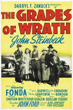 The Grapes of Wrath (en España, Las uvas de la ira; en Venezuela, Las viñas de la ira; en Argentina, Viñas de ira) es una película en blanco y negro de 1940: una adaptación dirigida por John Ford de la novela homónima de John Steinbeck, que había obtenido por ella el premio Pulitzer.  La película fue realizada en una época, los años 40, en la que el cine estadounidense tendía a evitar las películas de realismo social. La película es más optimista que la obra literaria en la que se basa.[1]