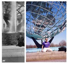 Then and Now: Doug Drexler  50 Years ago at The World's Fair Unisphere #dougdrexler #startrek #scifi #drexfiles #makeup #sfx #worldsfair