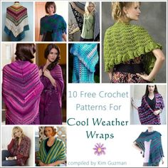 Link Blast: 10 Free Crochet Patterns for Cool Weather Wraps