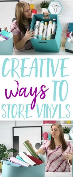 If you need some awesome Creative Ways to Store Vinyl, you have got to check out our post. Storing your vinyl can be kind of tricky but we've got some great tips for you! #cricut #cricutmade #cricutproject #cricutmaker #vinyl #cricutexplore #diecutting