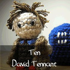 Dr Who - Tenth Doctor by Nyss Parkes (These mini Doctors do come in one single download, but they simply must be represented individually!) Free Pattern: http://www.ravelry.com/download/146980/free  #TheCrochetLounge #DrWho Collection