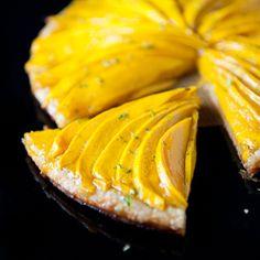 mango tart! tarts, sweet, mango tart, bake tart, food, drink, recip, blog, limes