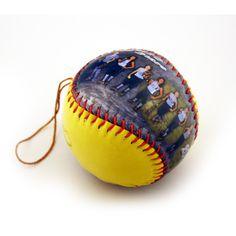 personalized ball ornaments: baseball, softball, basketball, volleyball, football