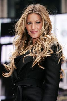 Iconic Celebrity Hair Colors beach waves, hair colors, long curls, celebr hair, beauti, hair looks, soft curls, gisele bundchen, dream hair