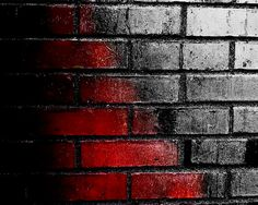 Red to Black, Brick Wall Home Decor, Bold Photography