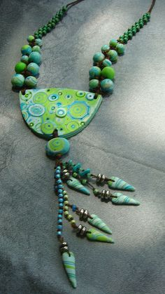 greeen seafoam by polymerclaybeads, via Flickr