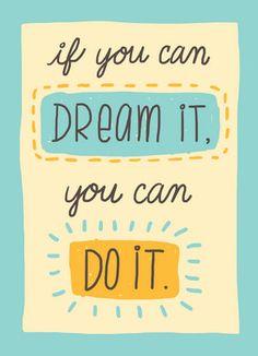 Dream it Do it Congratulations Card