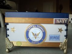 US Navy Box personalizing available upon by samanthahollins, $30.00