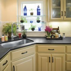 countertops made from recycled paper and cashew nutshell resin? awesome!
