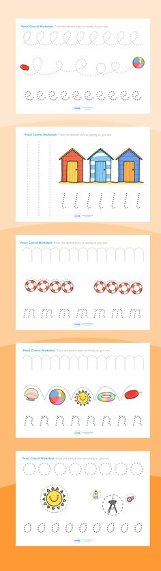 Summer Resources- Pencil Control Worksheets