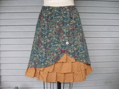 Wildflower Romp ruffle front skirt Sz 8 by LoveToLoveYou on Etsy, $72.00