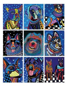 blue dogs by heather galler