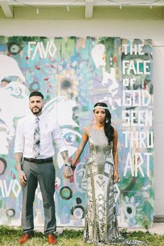 Hipster wedding coup