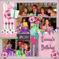 Emma's Birthday, digital layout by Art_Teacher
