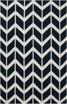 Fallon Arrows Flat Weave Rug in Navy