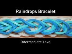 Rainbow Loom® Raindrops Bracelet - http://videos.silverjewelry.be/bracelets/rainbow-loom-raindrops-bracelet/