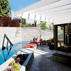 outdoor pool...so pretty the way it blends into the backyard