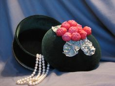One of a kind green velvet covered hat box with by PresentIdea, $25.00 BUY ME! BUY ME!