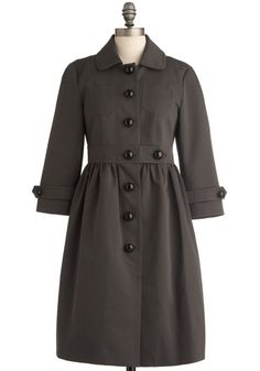 charcoal sketches coat / orla kiely would go nicely with the dress!