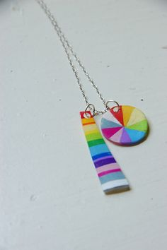 shrinky dink color jewelry color wheels, rainbow colors, color jewelri