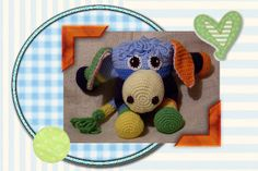 Friends of Craftybegonia: Honker the Funmigurumi Donkey    Honker is super shy, but the guys at the barnyard convinced him that if he alloed himself to be photographed, the girls would like him, so he's in it for the girls!  This is a PDF pattern available only from Monday through Thursday, weekly.  #crochet  #toys  #donkey #Amigurumi  #Funmigurumi #Craftybegonia