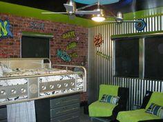 wall decor, green walls, boy bedrooms, new room, paint designs, teen boys, teen boy rooms, kid room, accent walls