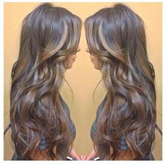 Brown with Highlights - Thinking about going dark again for fall/winter..love this choc brown with caramel highlights :)