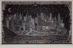 Manhattan Mettle Mixed media: metal punching, dollars, dimes, subway tokens, spanners, nails, pins...