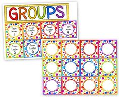 Fun and FREE rainbow-themed grouping cards :).This title is also included in my Rainbow-Themed Classroom Materials Pack.I also have a Jungl...