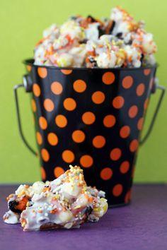 Halloween. Candy Corn Bark.