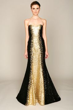 Monique Lhuillier gown- it's like dripping in gold