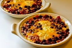 Kalyn's Kitchen®: Recipe for Mexican Baked Eggs with Black Beans, Tomatoes, Green Chiles, and Cilantro