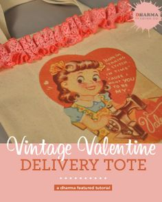 DIY a Vintage Valentine Delivery Tote- easy peasy with InkJet Transfer Paper!